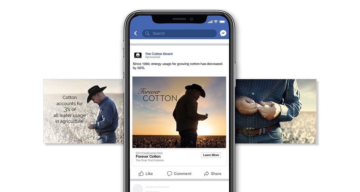 Screenshot of Cotton Forever ad on Facebook
