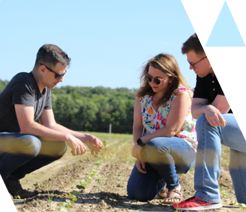 Ag advertising agency employees working at Archer Acres