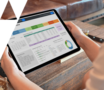 Data dashboard showing media performance on an iPad