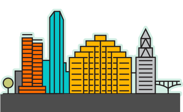 Scale image of the Austin, TX skyline